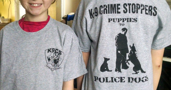 K-9 Crime Stopper Shirts now Available!