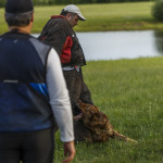 East Hartford, CT, 07/08/15; Hometown hero Bryan Colletti (right), President & Founder of K9CS, Inc in Newington CT trains with K9 Pi, a German Shepherd, and with fellow K9 trainer Paul Octaviani at a field near the Cabela's Retail Store Wednesday evening. Collettei trains dogs, usually Belgian Malinois and German Shepherds, to be a working police K-9. photo by David Butler II