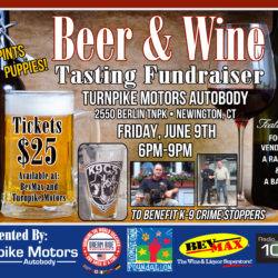 Beer & Wine Tasting Fundraiser at Turnpike Motors Autobody